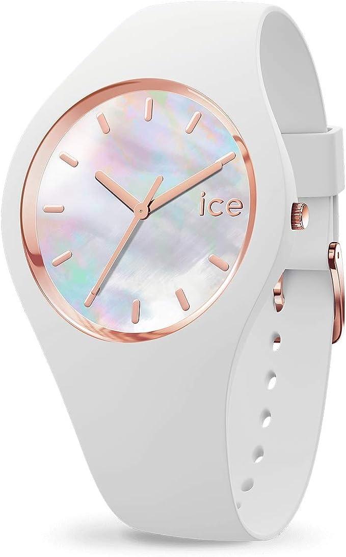 ICE WATCH Ice Pearl White, Reloj Blanco para Mujer con Correa de Silicona
