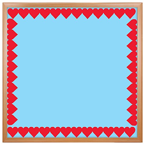 Hearts Border Trim - Hygloss Products Red Hearts Die-Cut Bulletin Board Border – Classroom Decoration – 3 x 36 Inch, 12 Pack
