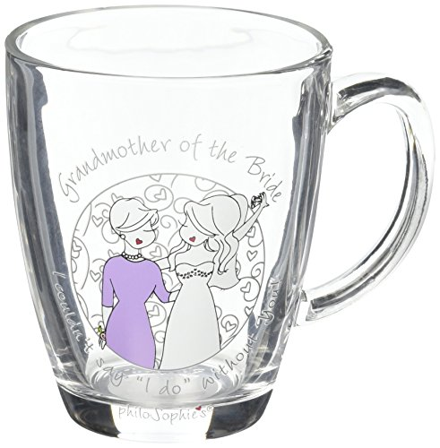 Pavilion Gift Company 71632 Philosophies Grandmother Of The Bride Glass Coffee Tea Mug, Clear
