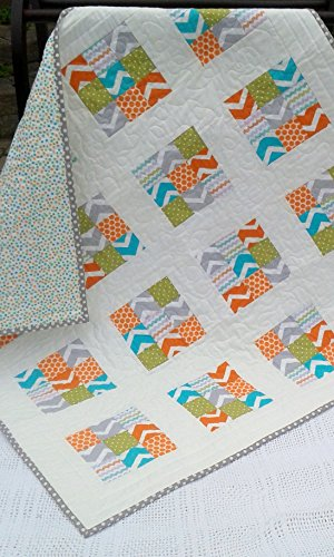 Modern Baby Quilt/Play Mat by MangoWave
