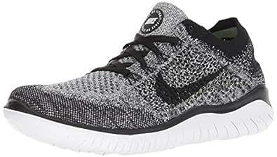 Nike Australia Women's Free RN Flyknit 2018 Running Shoes, White/Black, 6 US