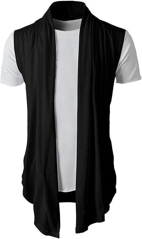 Berimaterry Camisetas de Hombre Abierta de Color sólido Lino Casual del Camisas de Manga Corta Polo con Cuello en V de Blusa de Hombre Fit Culturismo Sudaderas El Verano Delgada y Ligera