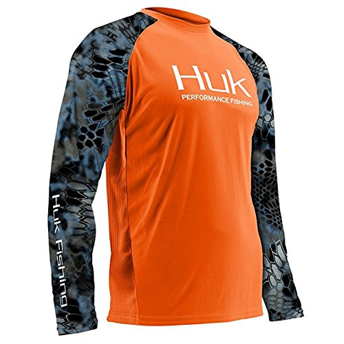UPC 190840045320, Huk H1200119-800-XXL Performance Kryptek Vented Ls, Orange, XX-Large