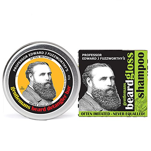 Professor Fuzzworthy's NEW Apple Cider Beard SHAMPOO BAR & Beard CONDITIONER KIT | 100% Natural Grooming Pack | Kunzea & Organic Essential Plant Oils | Sulfate Free | Handmade in - New Of Style Beards