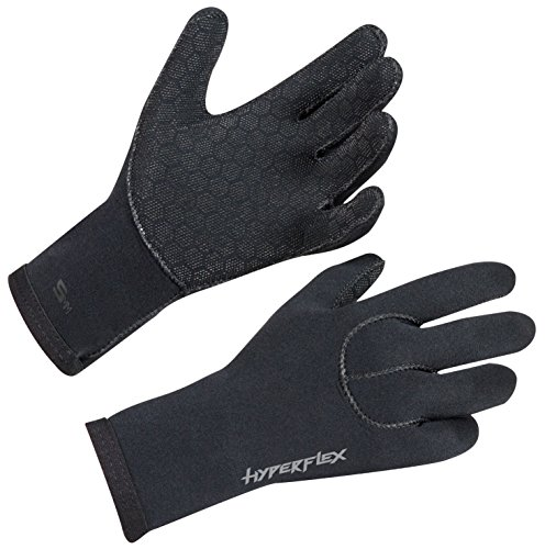 Hyperflex Wetsuits Men's 5mm Access Glove, Black, Large - Surfing, Windsurfing & - Medium Wetsuits Glove