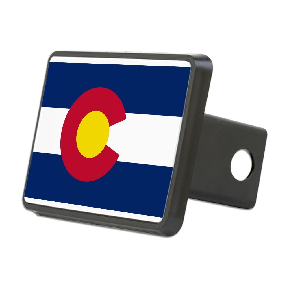 CafePress - Colorado State Flag - Trailer Hitch Cover, Truck Receiver Hitch Plug Insert by CafePress