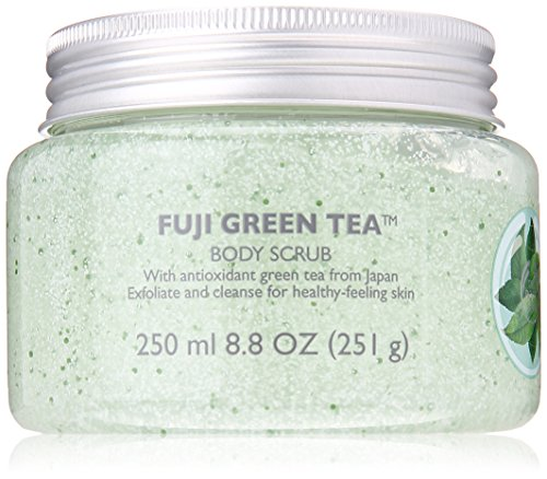 The Body Shop Fuji Body Scrub, Green Tea, 8.4 Fluid - Works Body Tea Green