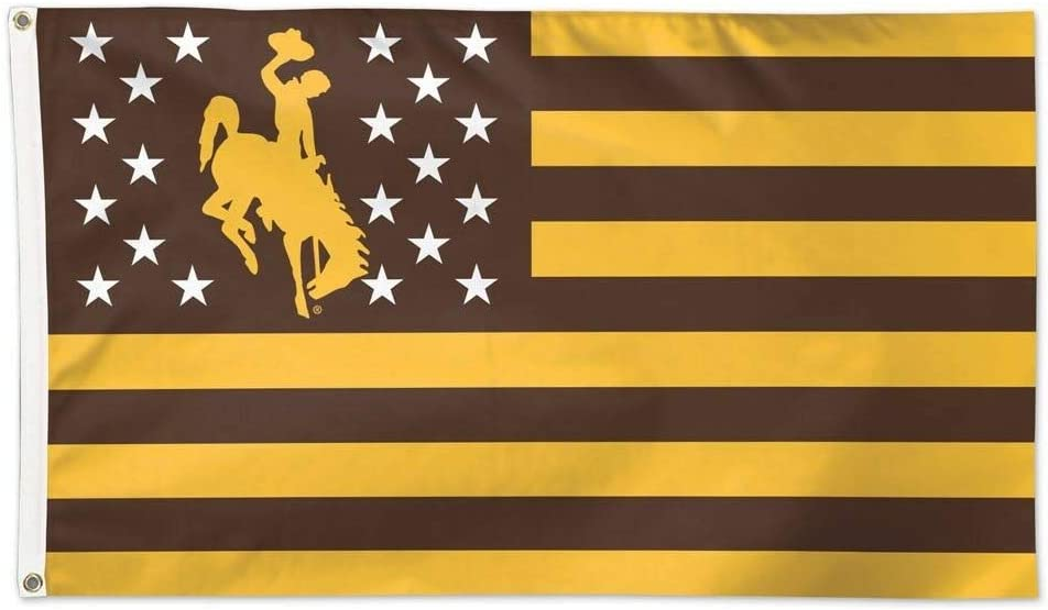 WinCraft University of Wyoming Cowboys NCAA American Flag 3 x 5 Foot