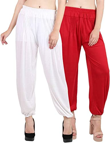 Womens Modern Lycra Yoga Harem Pants Iron Free