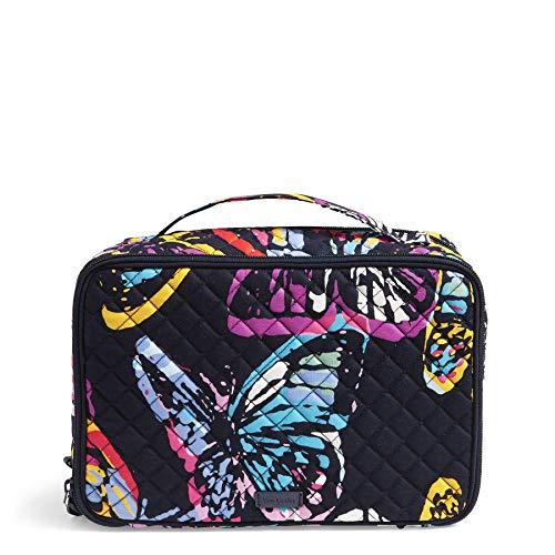 Vera Bradley Iconic Large Blush & Brush Case, Signature Cotton, Butterfly Flutt -