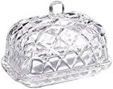 Fifth Avenue Crystal Muirfield Butter Dish, Clear