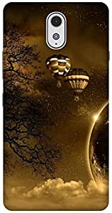The Racoon Grip hot air balloon hard plastic printed back case / cover for Lenovo Vibe P1M