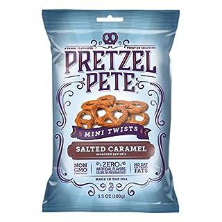 Pretzel Pete Seasoned Mini Twist Pretzels, Salted Caramel, 3.5 Ounce Bag (Pack of 6)