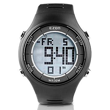 bedc3701e00e EZON Reloj Deportivo Digital al Aire Libre cronómetro Corriendo con  Impermeable