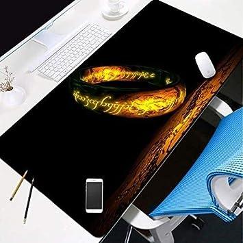 Alfombrillas de ratón El Señor de los Anillos Teclado Gaming Mouse Pad Mapa animado de gran tamaño extendido tapete de ratones Juego Mousepad for Ministerio del Interior antideslizante de la PC de