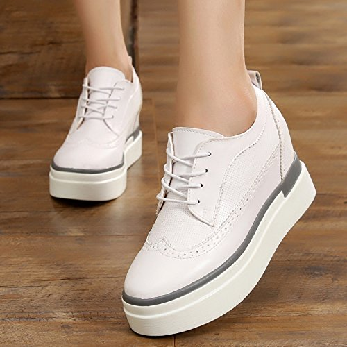 Alto Zapatos 4 Talud Treinta GTVERNH Mujer Cm De Tacon Cuatro Grueso Casuales Y Tacon Música Más De Inferior Zapatos Zapatos Zapatos De Zapatos Blancos Zapatos qqpRvnBa6w