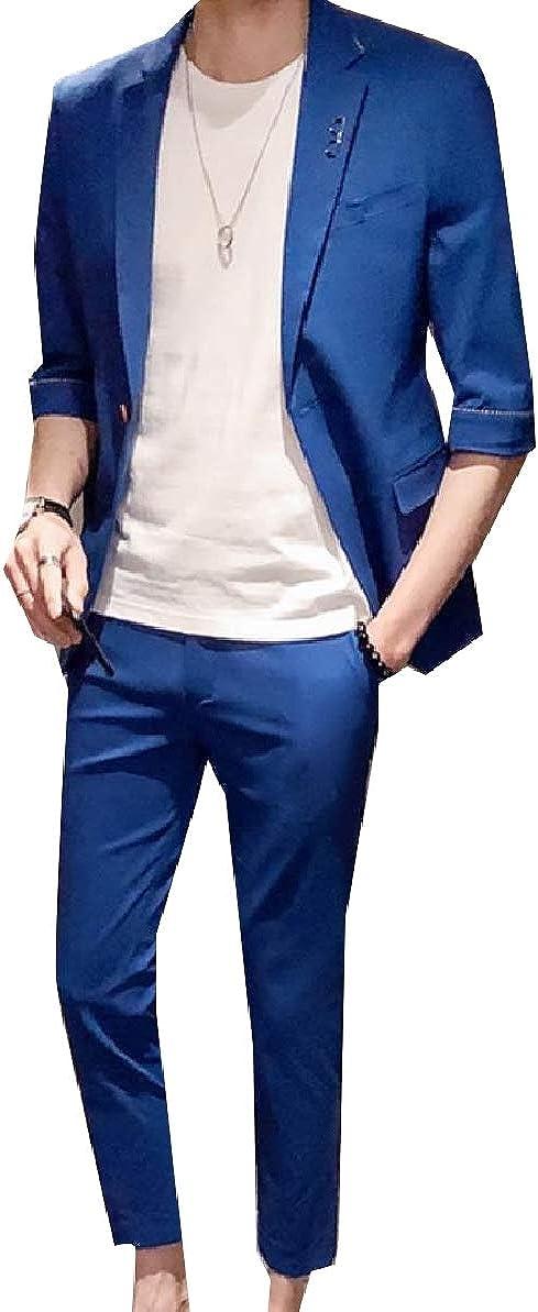 Zimaes-Men Business Lapel Original Fit Suit Blazer Jacket /& Trousers 2-Piece