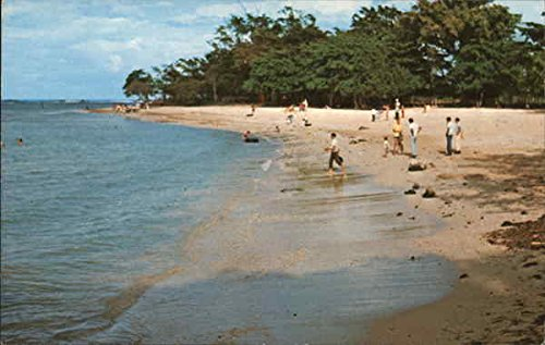 Long Beach Puerto Plata, Dominican Republic Original Vintage Postcard