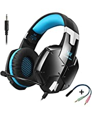 ZYSY PS4 Gaming Headset Via Ear Stereo Gaming Headset With Noise Canceling Mic,50mm Magnetic Neodymium Driver,Volume & Mute Control for Nintendo Switch PS4 Xbox One PC Computer Laptop Smartphones Mobile Phones