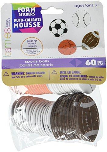 Darice Foamies Play Ball Sports Stickers (1028-59)