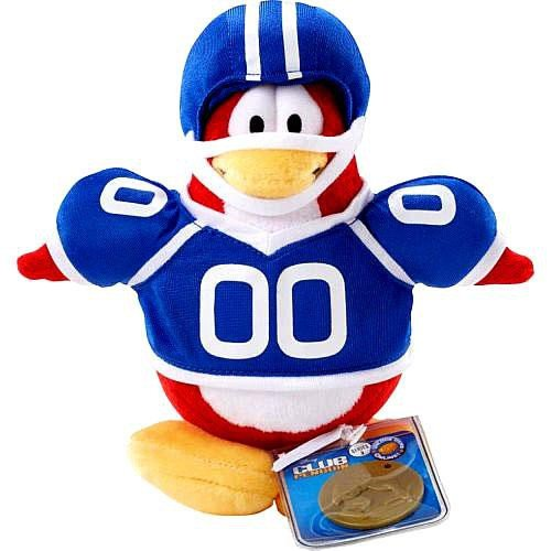 Disney Club Penguin 6.5 Inch Series 2 Plush Figure Football Player (Includes Coin with Code!) by Disney