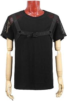 Camiseta de hombre de primavera y verano 2018, tendencia de manga corta, camisa punk europea y americana, camiseta suelta de hombre,negro,XXL: Amazon.es: Bricolaje y herramientas