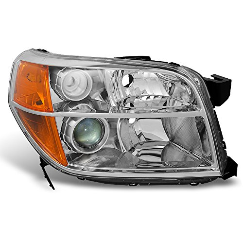 Passenger Side Projector (Honda Pilot Clear Chrome Passenger Right Side Front Projector Headlight Lamp Front Light Replacement)