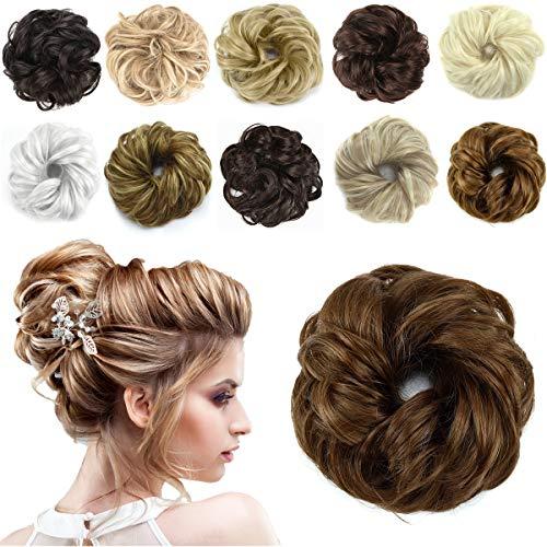 HAIRREAL Hair Bun Extensions Messy Hair Scrunchies Donut Chignons Hairpiece Scrunchy Updo Hair Pieces