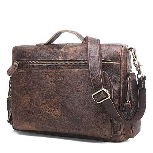 Convient Documents Porte Leather Men's Grande Real Usage Main Asdflina à Quotidien pour Un Sac Loisirs Business capacité 8SH7nwq