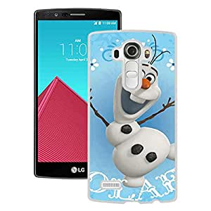 Popular Custom Designed Cover Case With OLAF Snowman White For LG G4 Phone Case