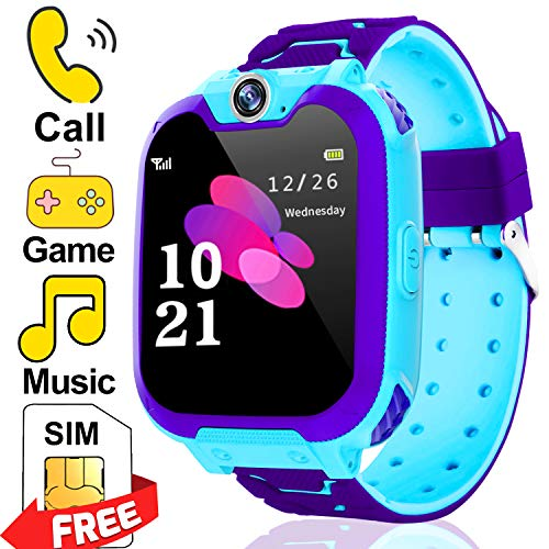 Kids Watch Toys for Boys - [Include SIM Card] Kids Smart Watch Phone with Two-Way Call SOS Games Camera Music Player, Child Cellphone Wrist Watch 3-12 Years Old Halloween Birthday Gifts