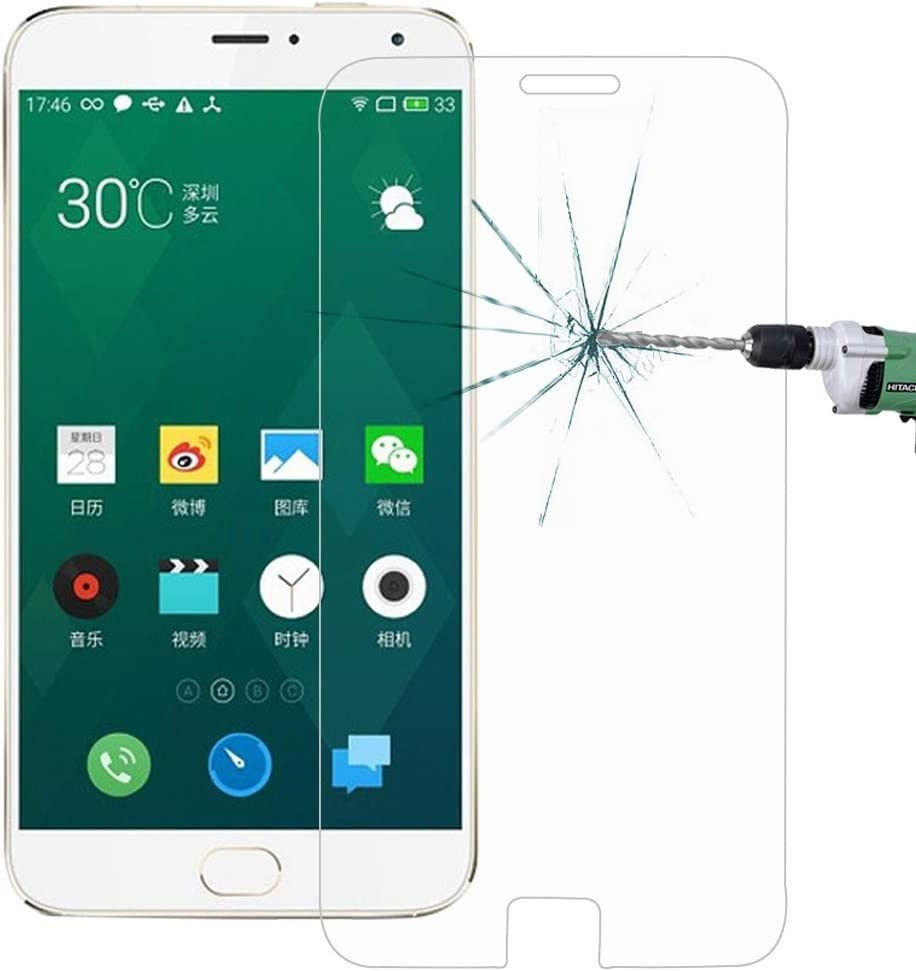 Ruanmaoshi Cell Phone Accessory 100 PCS for Meizu MX4 Pro 0.26mm 9H Surface Hardness 2.5D Explosion-Proof Tempered Glass Screen Film Phone Screen Protectors