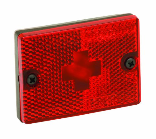 Wesbar Side Marker/Clearance Light with Reflex Lens and 18-Inch Pigtail, Red