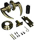 Schlage commercial AL10OME609 AL Series Grade 2 Cylindrical Lock, Passage Function, Omega Lever Design, Antique Brass Finish