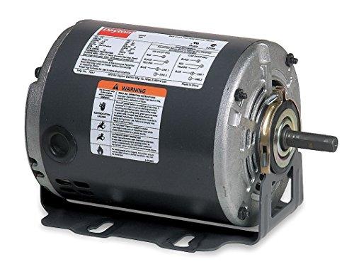 Dayton 3K091 Motor, 1/4 hp, 60Hz, Belt, Degrees_Fahrenheit, to Volts, Amps, (