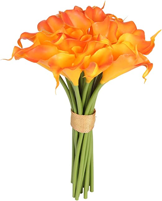 Easin Calla Lily Bouquet For Wedding 20 Pcs Lily Flowers