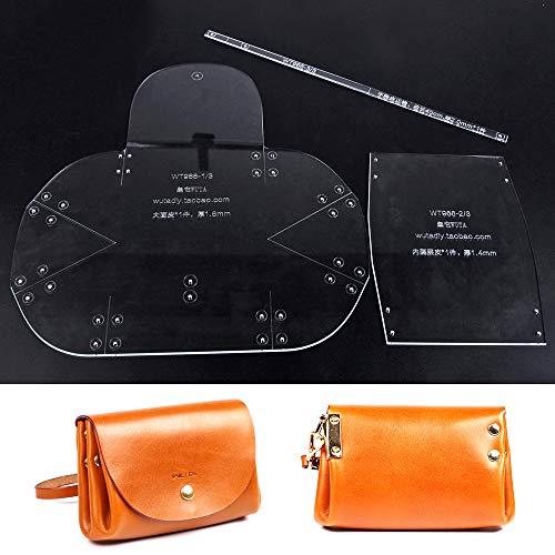WUTA Leather Mini Lady Clutch Leather Template Handbag Acrylic Pattern Craft Tool 966 -