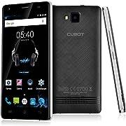 CUBOT ECHO Musik Smartphone Ohne Vertrag(5.0 Zoll HD IPS-Display,3G WCDMA 2G GSM Android 6.0 Handy,MTK6580 1.3GHz Quad Core,1280x 720 pixels,13 Megapixel-Kamera mit 16GB ROM,2GB RAM Dual SIM Karten Dual Standby) Schwarz