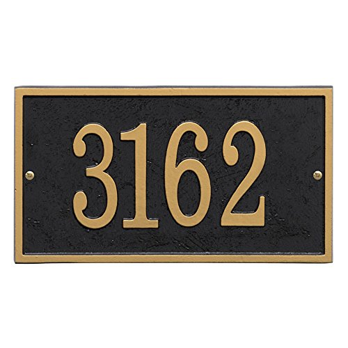 Whitehall Personalized Cast Metal Address Plaque - Custom House Number Sign - Rectangle (11