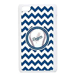 Blue MLB Los Angeles Dodgers Chevron For Iphone 4/4S Cover Hard Plastic MLB Dodgers Ipod Cover HD Image Snap ON