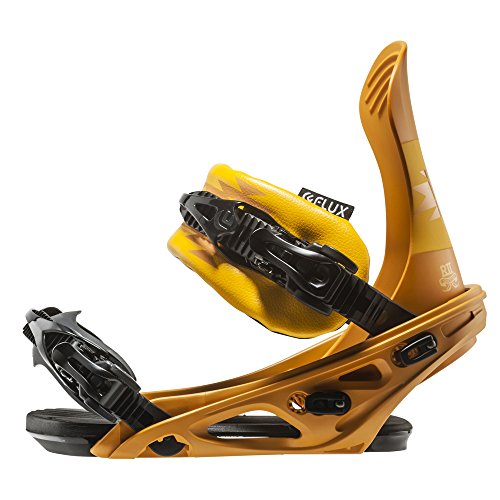Flux Bindings R2 2016/2017 Model Snowboard Bindings, Mustard, Medium by Flux Bindings