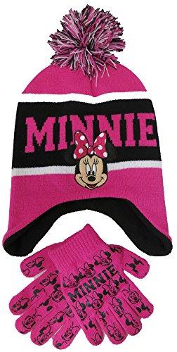 Girls Minnie Mouse Scandinavian Hat and Gloves Set