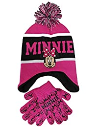 Girls Minnie Mouse Scandinavian Hat and Gloves Set (Pink)