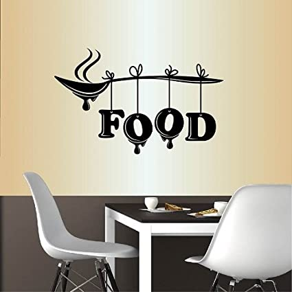 Amazon.com: Wall Vinyl Decal Home Decor Art Sticker Food Word Sign Spoon  Kitchen Restaurant Café Room Removable Stylish Mural Unique Design: Home U0026  Kitchen