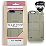"Apple iPhone 6/6s 4.7"" Case, Magpul® Industries Bump MAG486 Case Cover Polymer Retail Packaging for Apple iPhone 6/6s 4.7"" + Tempered Glass Screen Protector (Flat Dark Earth)"