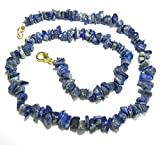 CRYSTALMIRACLE BEAUTIFUL 18 INCHES LAPIS LAZULI GEMSTONE NECKLACE CRYSTAL HEALING WOMEN GIFT HANDCRAFTED ACCESSORY PSYCHIC WELLNESS POSITIVE ENERGY PEACE MEDITATION POWERFUL LOVE THROAT CHAKRA