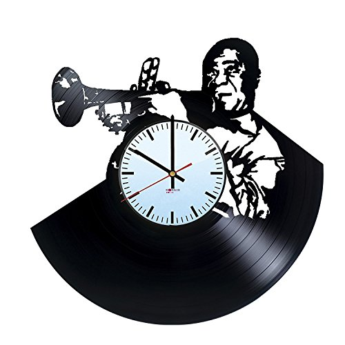 BorschToday Louis Armstrong HANDMADE Vinyl Record Wall Clock - Get unique bedroom wall decor - Gift ideas for men and women,parents??