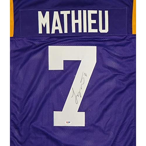 separation shoes 0dc17 036f7 Tyrann Mathieu Signed Purple College Style Jersey- PSA/DNA ...