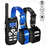 iTao Dog Training Collar for 2 Dogs, Dog Shock Collar with Beep Vibration Shock Modes, 1800ft Remote Rechargeable Waterproof Two Dog Electric Barking Collar for Small Medium Large Dogs