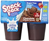 Snack Pack Sugar-Free Chocolate Pudding Cups, 4 Count, 12 Pack
